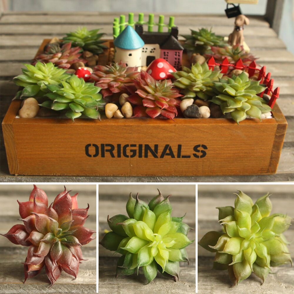 Land lotus succulent grass artificial plant landscape fake for Flower garden decorations