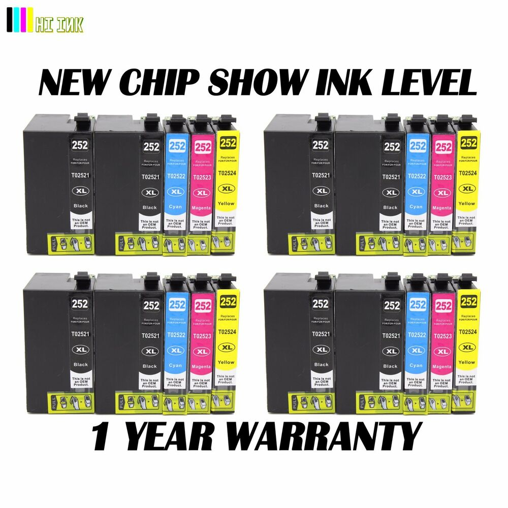 20 Pack New T252XL Ink Cartridge For Epson Workforce ...