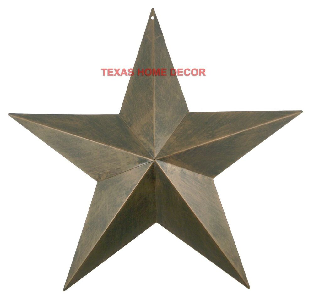 17 metal barn star rustic copper texas tin primitive western wall decor martlocal. Black Bedroom Furniture Sets. Home Design Ideas