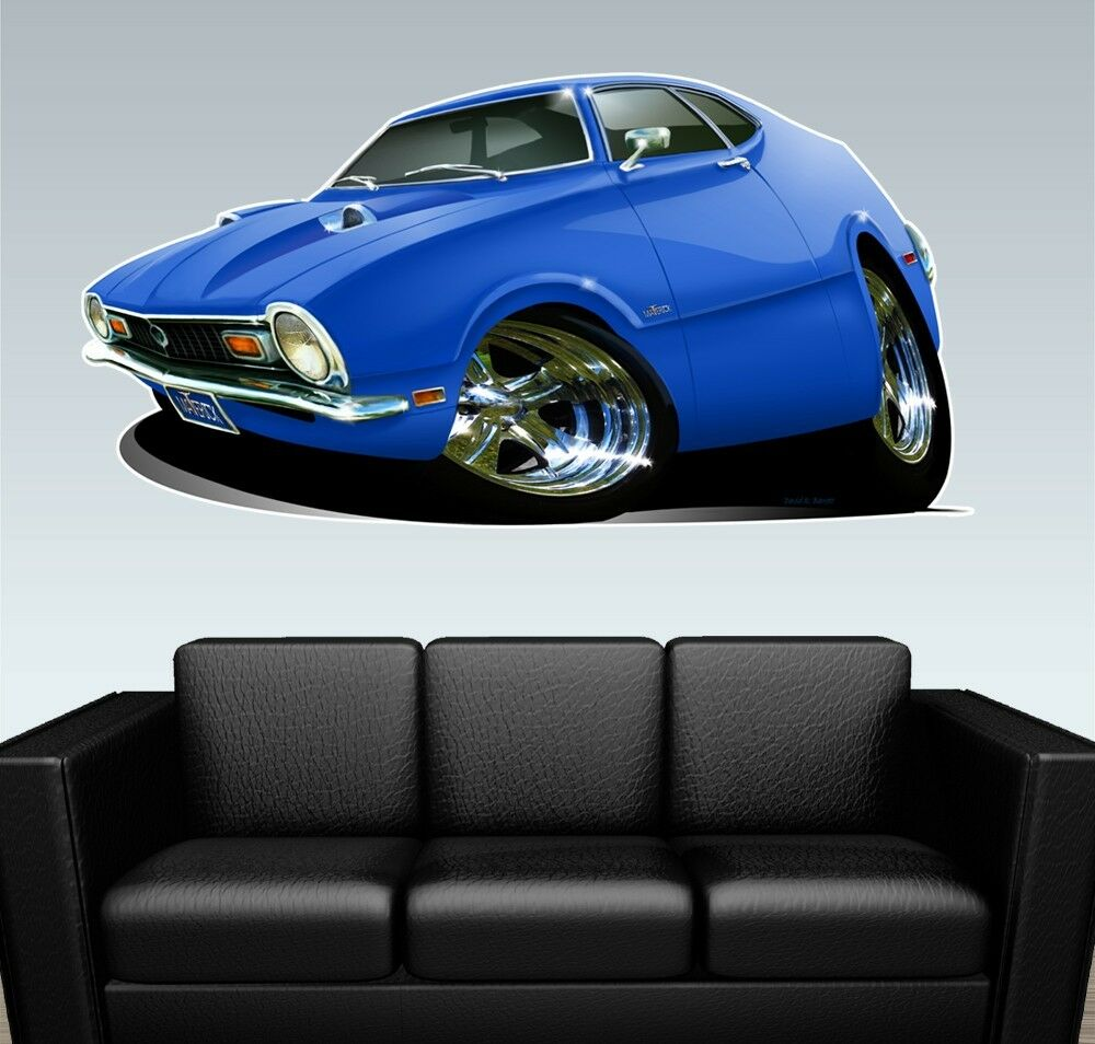 Muscle Car Decals >> 1970 Maverick Muscle Car WALL GRAPHIC DECAL MAN CAVE MURAL PRINT Ford NWT | eBay