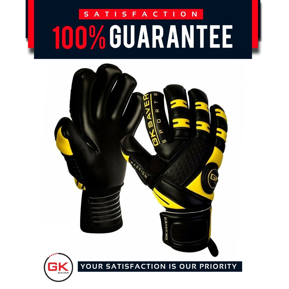 gk saver passion black negative cut goalkeeper gloves football goalie pro gloves ebay. Black Bedroom Furniture Sets. Home Design Ideas