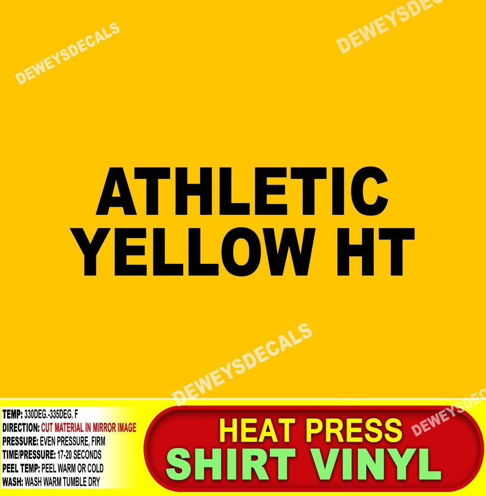 Athletic Yellow Heat Transfer Vinyl T Shirt Cutter Punch