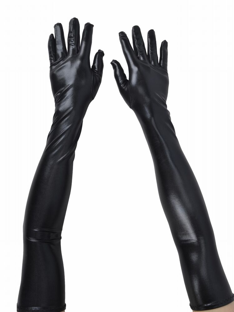 Women's Ladies Opera Evening Party Faux Leather Black ...