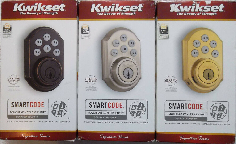 Kwikset Smartcode Nickel Brass Bronze Keyless Entry 910