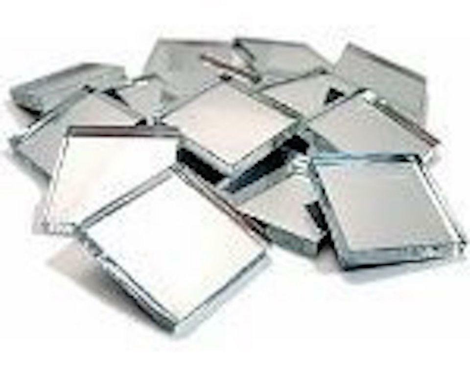 20x20mm Mirror Glass Mosaic Tiles 3mm Thick 100 Tiles Ebay