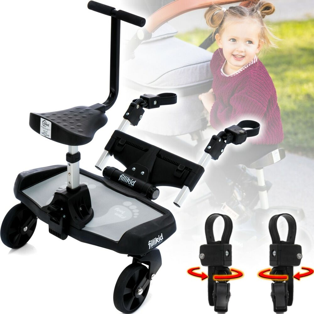 filliboard buggyboard zusatzsitz erweiterung f r kinderwagen buggy jogger ebay. Black Bedroom Furniture Sets. Home Design Ideas