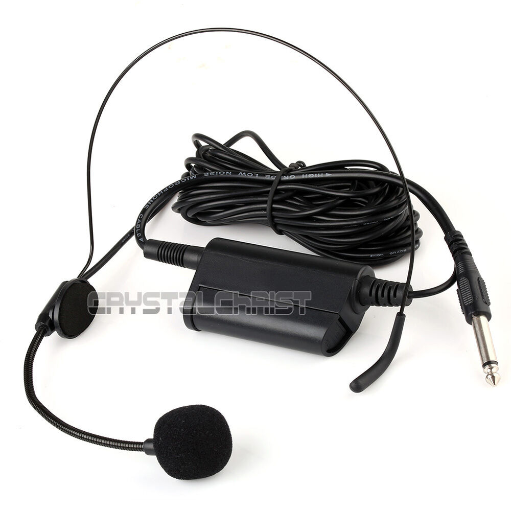 Wireless Lavalier lapel w Over the head headset & Clip Microphone 6 ...