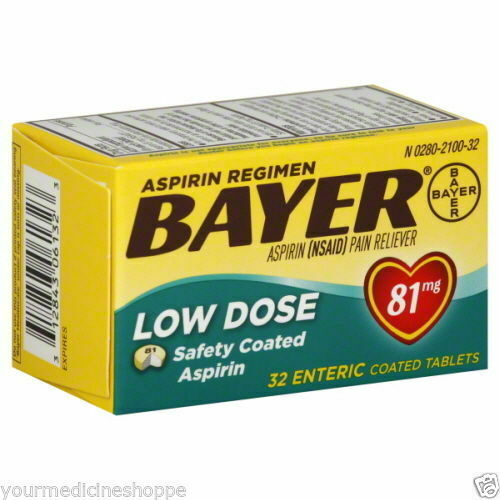 Bayer Aspirin Regimen, 81mg, Tablets, 32ct ...