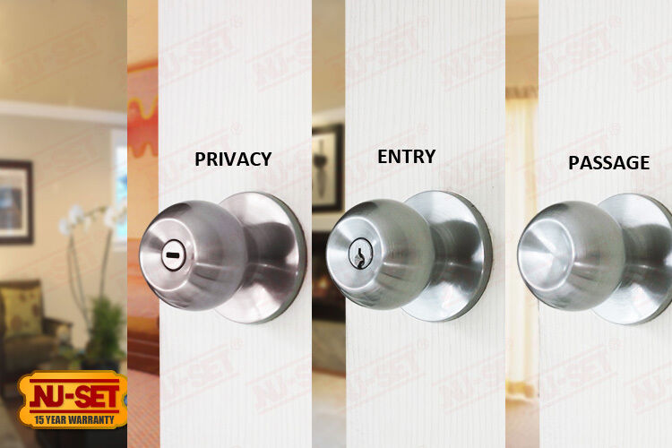nuset brand dana entry door knobs privacy lock passage lock satin