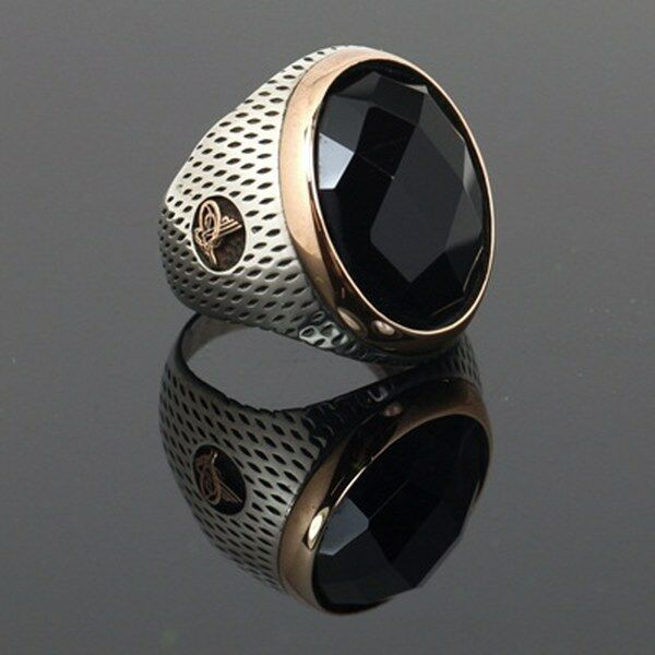 handmade mens rings handmade turkish ottoman onyx 925 k sterling silver 7960