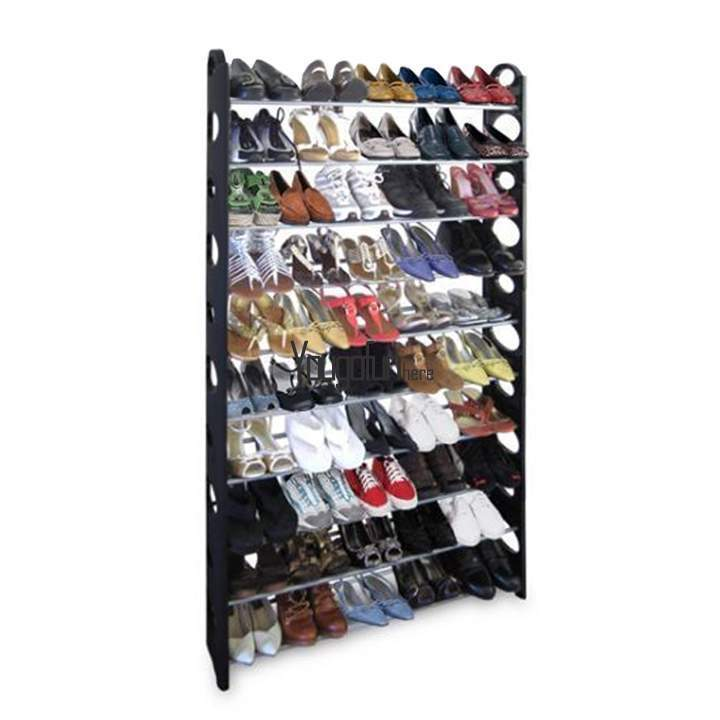 50 30pair adjustable shoe rack free standing organizer space saving 10 tier hyf ebay - Shoe racks for small spaces collection ...