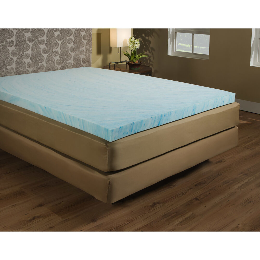 Gel mattress topper memory foam bed pad 3 inch hypoallergenic full size new ebay Best deal on twin mattress