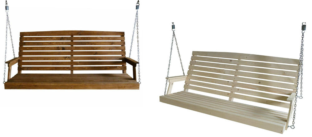 3 or 4 Seater Garden Swing Seat 150 or 180 Outdoor Wood Bench Chair