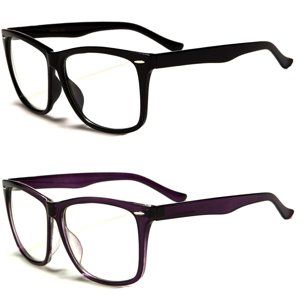 Large Framed Fashion Glasses : NEW BIG LARGE Fashion FRAME CLEAR LENS GLASSES Men Women ...