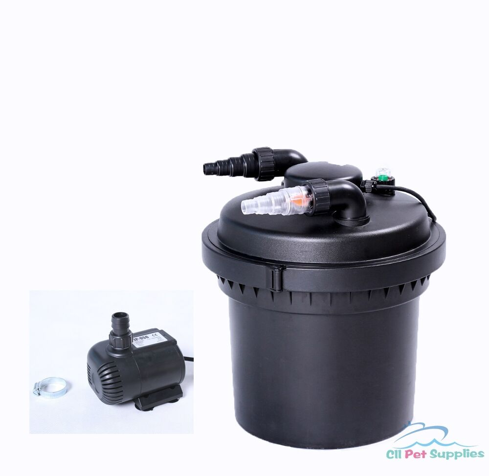 2100 gal pressure pond filter w 13w uv sterilizer koi for Pond pump with uv filter
