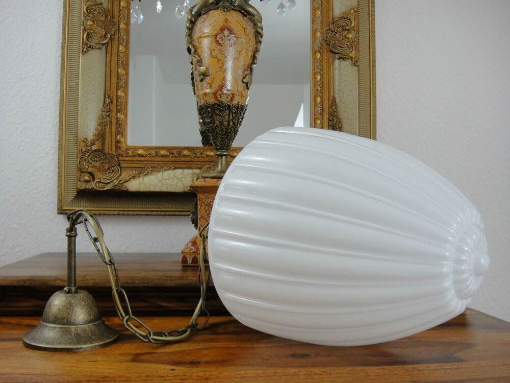 deckenlampe jugendstil h ngelampe lampe antik pendelleuchte opal glas messing ebay. Black Bedroom Furniture Sets. Home Design Ideas