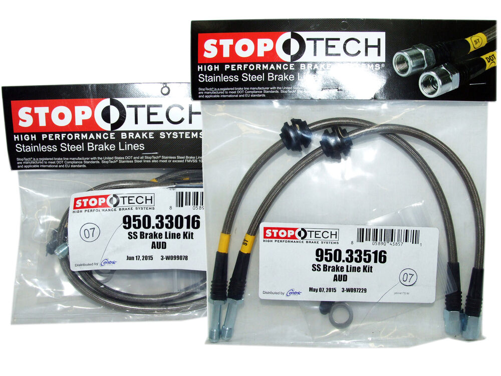 Stoptech stainless steel braided brake lines front rear