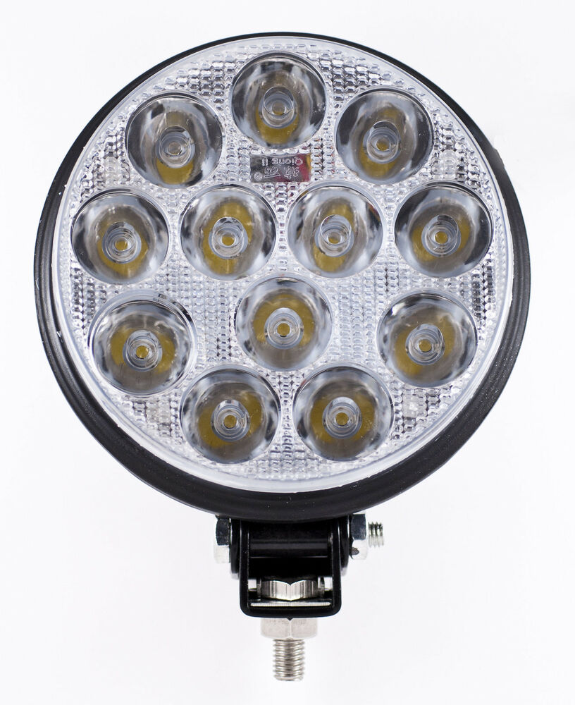 "5"" Inch 12 LED Round Work Spot Light 36w Off Road Jeep"