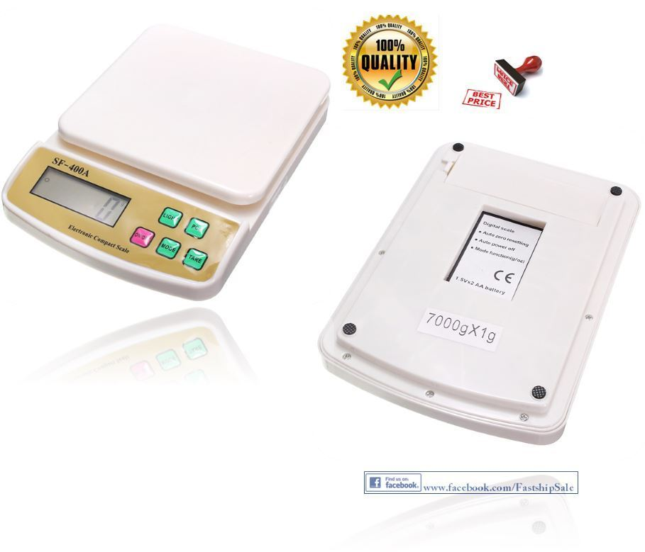 Electronic Digital Kitchen Scale Food 22 Lb Weight 10 Kg