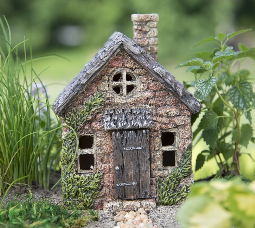 "Gnome Garden: 5.5"" Mini Bucklin Cottage Terrarium Fairy Garden Miniature"