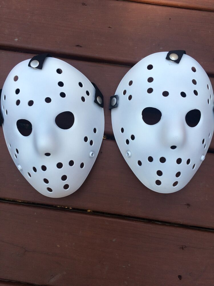 two Custom Flat White Jason Voorhees FRIDAY THE 13th ...