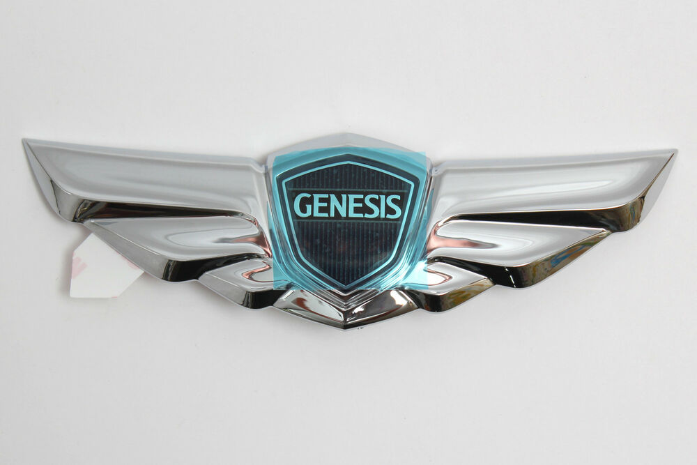 2012 2013 hyundai genesis genuine emblem wing rear trunk. Black Bedroom Furniture Sets. Home Design Ideas