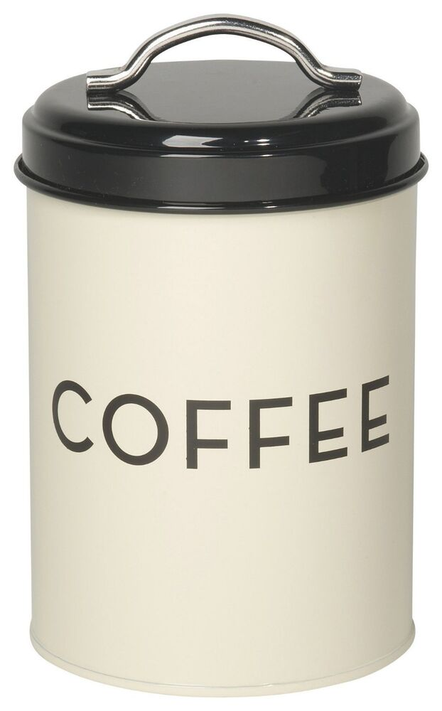 Now designs coffee tin ivory canister kitchen decor for Coffee kitchen designs