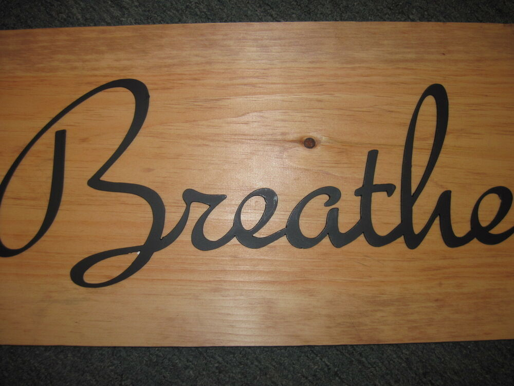 Breathe-Black Wrought Iron Wall Art Metal Home Decor
