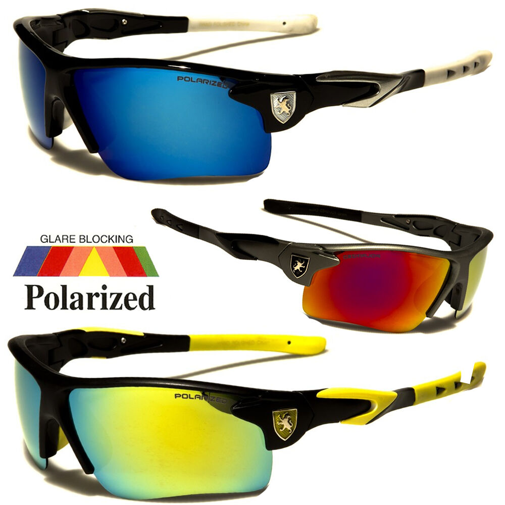 Polarized mirror lens mens fishing cycling baseball sport for Mens fishing sunglasses