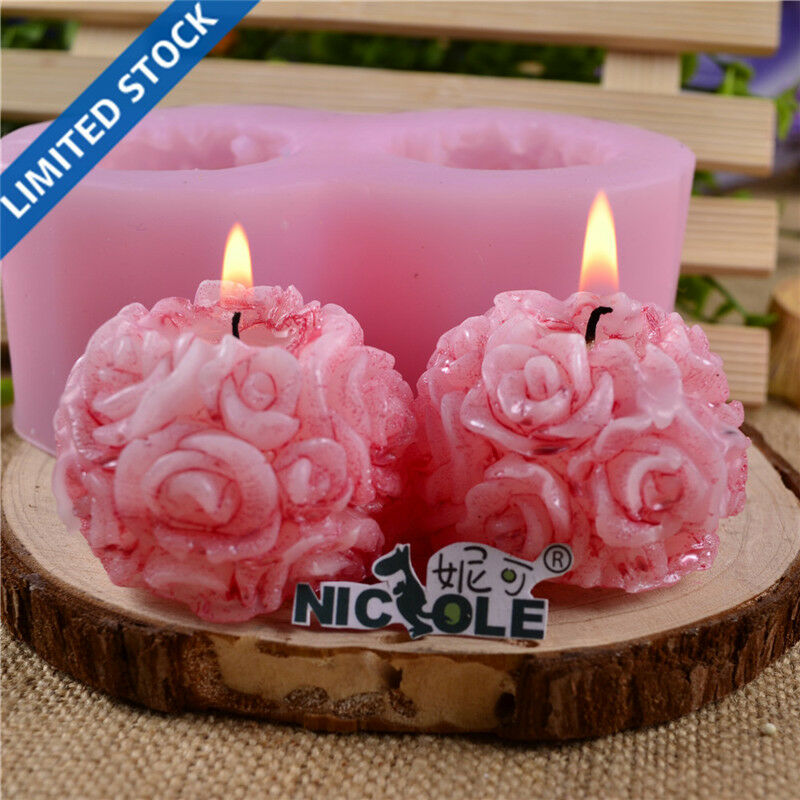Nicole Flexible 3D Rose Flower Ball Shaped Silicone