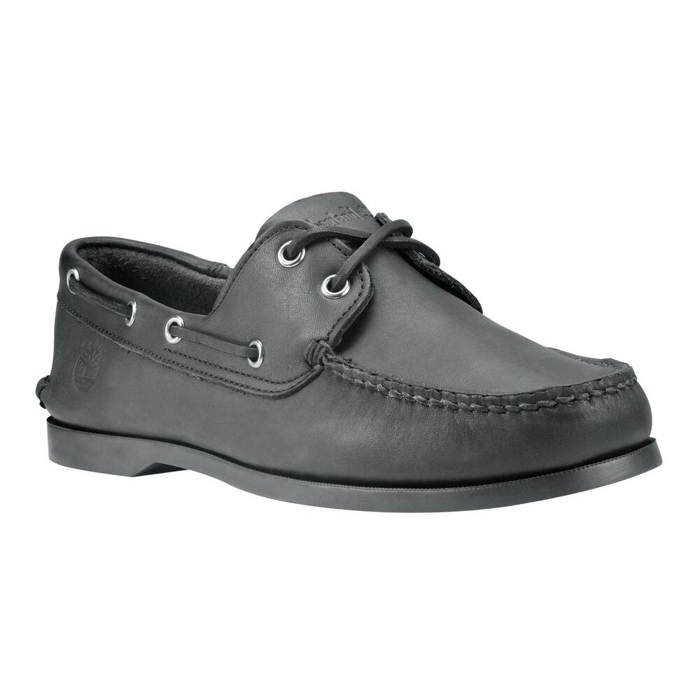 Timberland All Black Boat Shoes