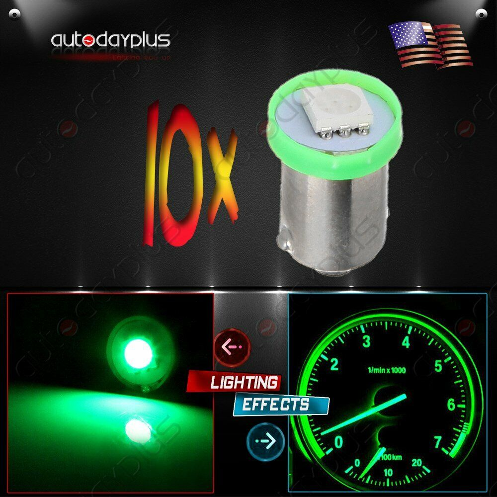 10x Ba9s Green 1smd Led Instrument Gauge Dash Cluster Light Bulbs 1815 1893 1895 Ebay