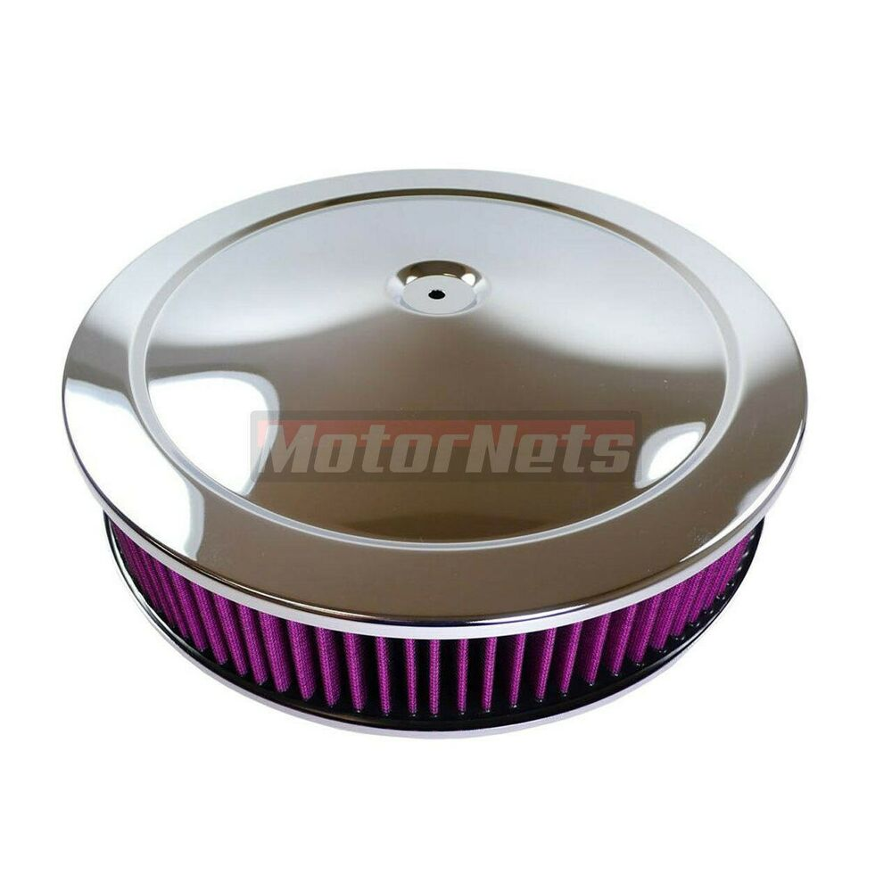 Gm Performance Air Cleaner : Quot round chrome muscle car air cleaner washable filter