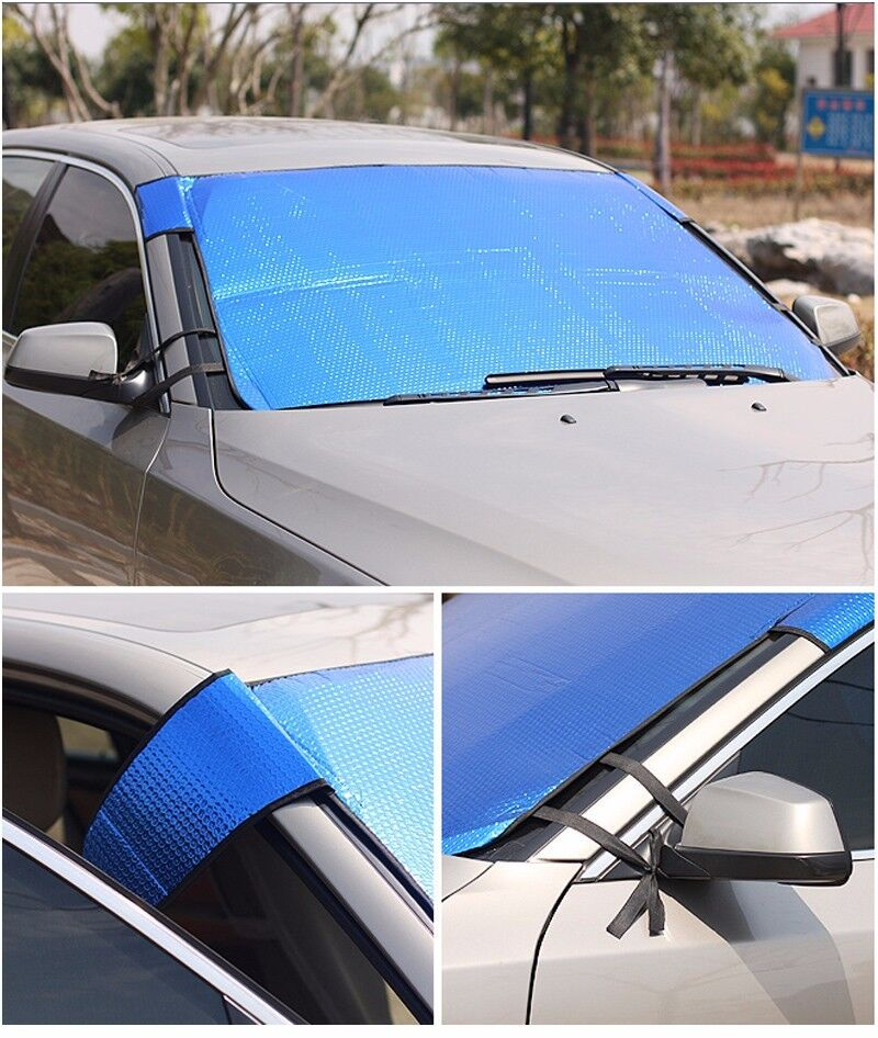 folding jumbo front car auto window sun shade auto visor windshield block cover ebay. Black Bedroom Furniture Sets. Home Design Ideas