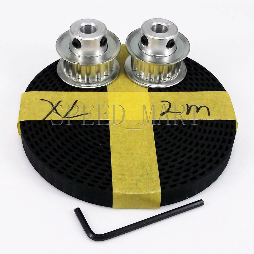2pcs Xl Xl16t Timing Pulley 16 Teeth 10mm Bore For Stepper