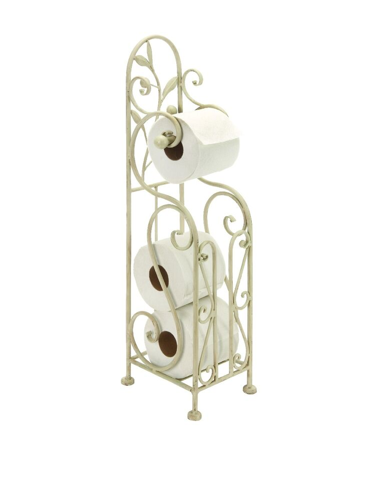 Iron Metal Toilet Paper Tissue Roll Free Standing Holder: toilet paper holder free standing