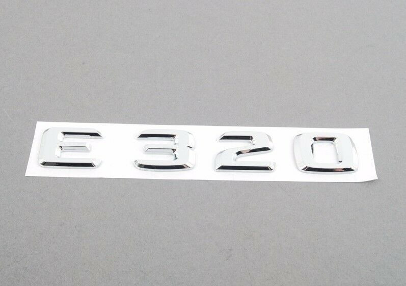 Mercedes benz e class genuine emblem e320 trunk insignia for Mercedes benz trunk emblem