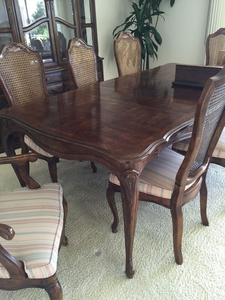 henredon dining table ebay. Black Bedroom Furniture Sets. Home Design Ideas