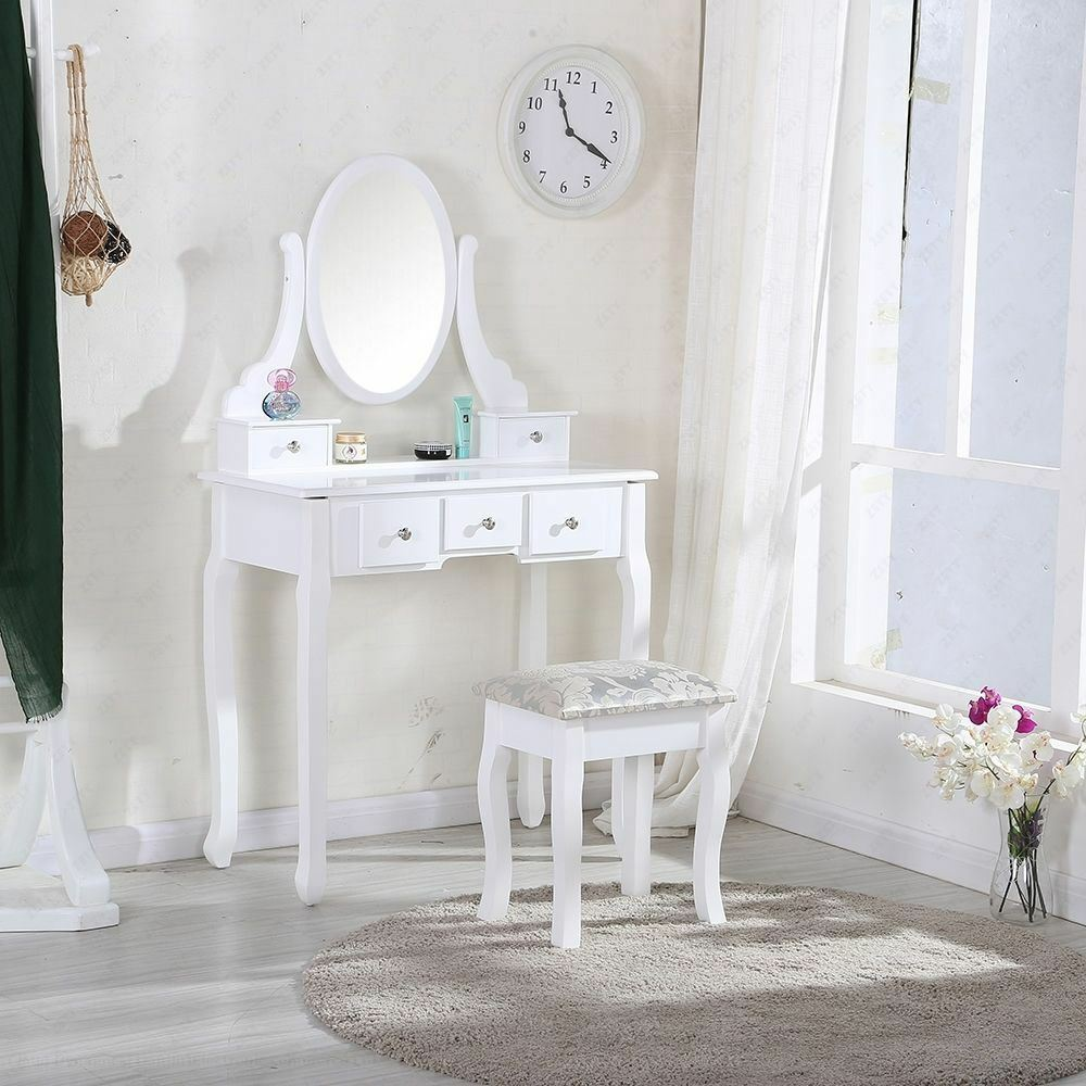 5 draer white dressing table parts