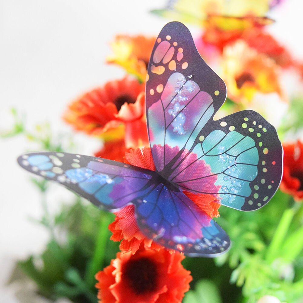 18pcs diy colorful butterfly wall stickers art decal for 3d butterfly decoration