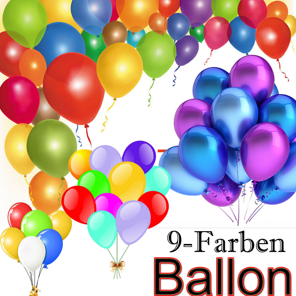 luftballons 25 cm 9 farben 50 100 200 500 st ckzahl. Black Bedroom Furniture Sets. Home Design Ideas