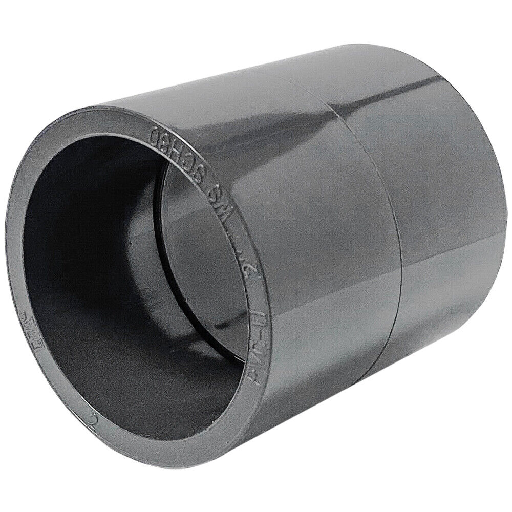New sch pvc inch straight coupling socket connect