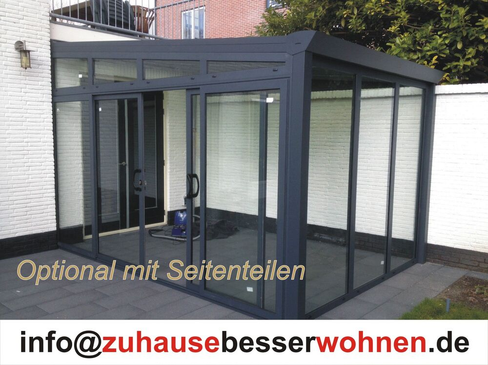 aluminium terrassen berdachung terrassendach vsg glas berdachung 4000 x 3000mm ebay. Black Bedroom Furniture Sets. Home Design Ideas
