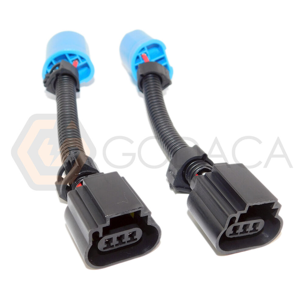 2 x 9007 hb5 to h13 headlight pigtail connector wire. Black Bedroom Furniture Sets. Home Design Ideas