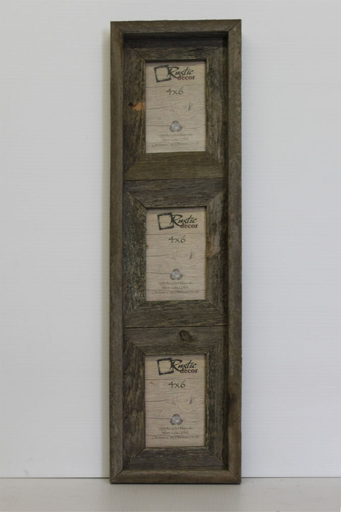 4x6 Rustic Barn Wood Vertical 3 Opening Picture Frame – Holds 3 ...: ebay.com/itm/4x6-rustic-barn-wood-vertical-3-opening-picture-frame...