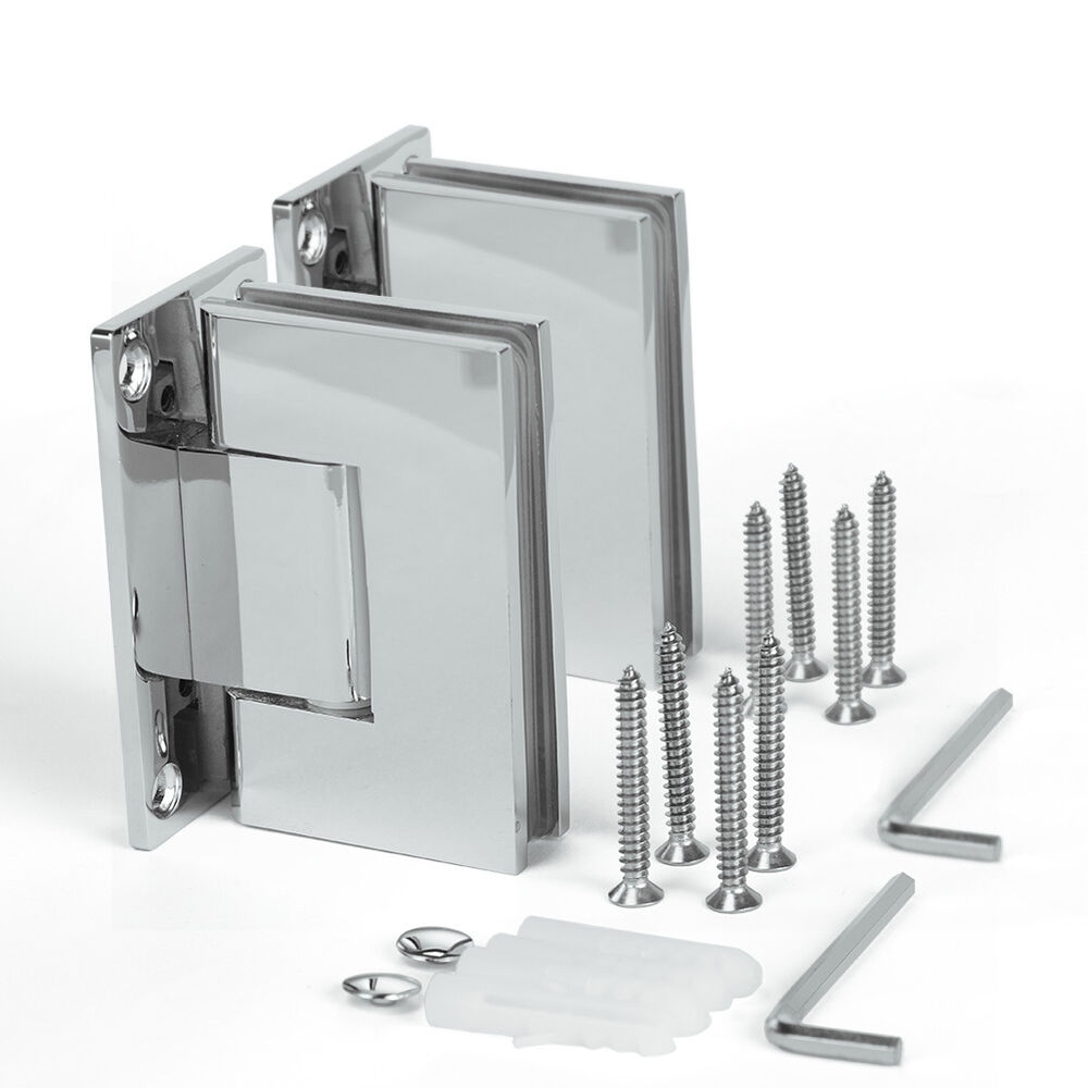 Glass Shower Door Hinges : New frameless pivot shower door degree square hinge