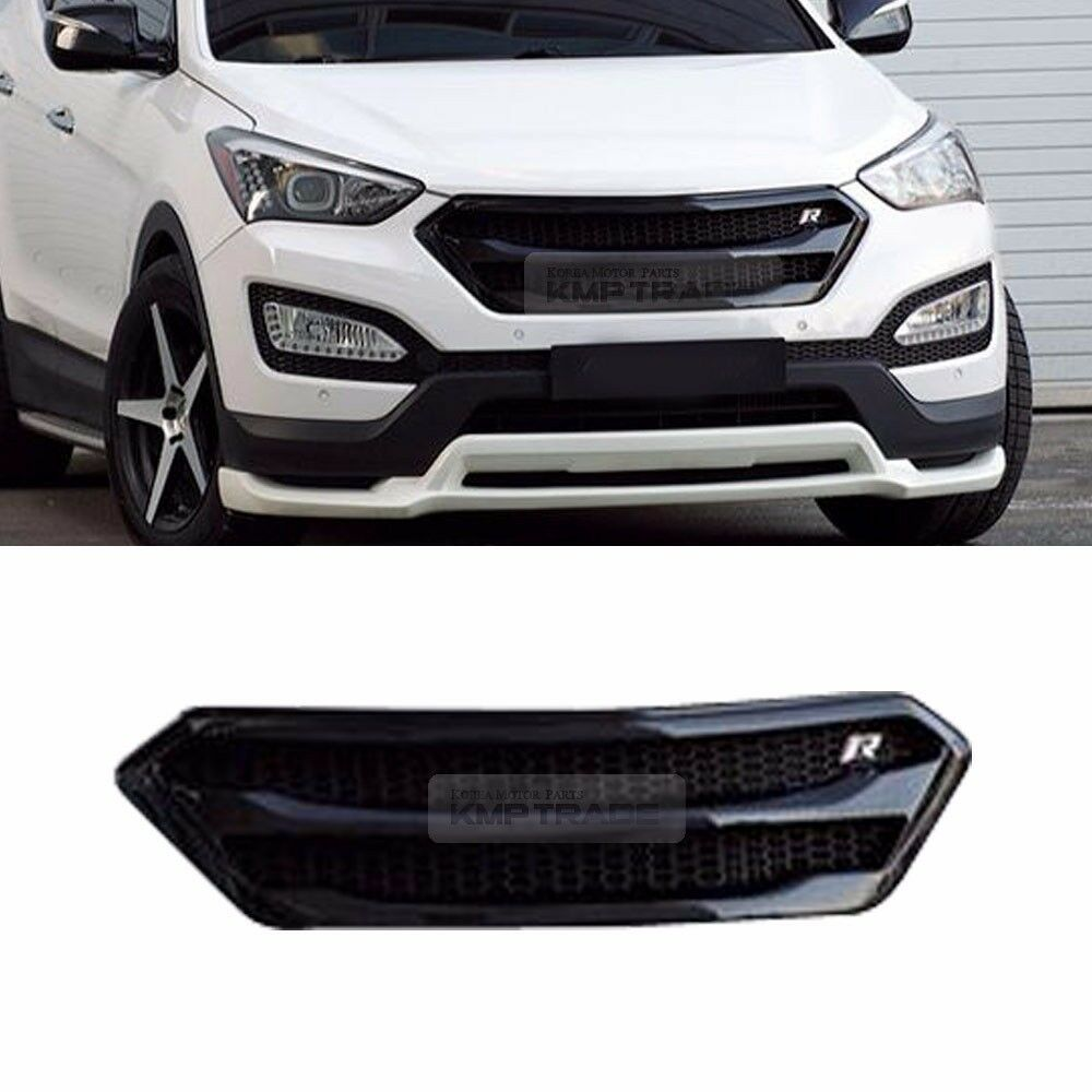 Front Bumper Radiator Grille Cover Unpainted For Hyundai