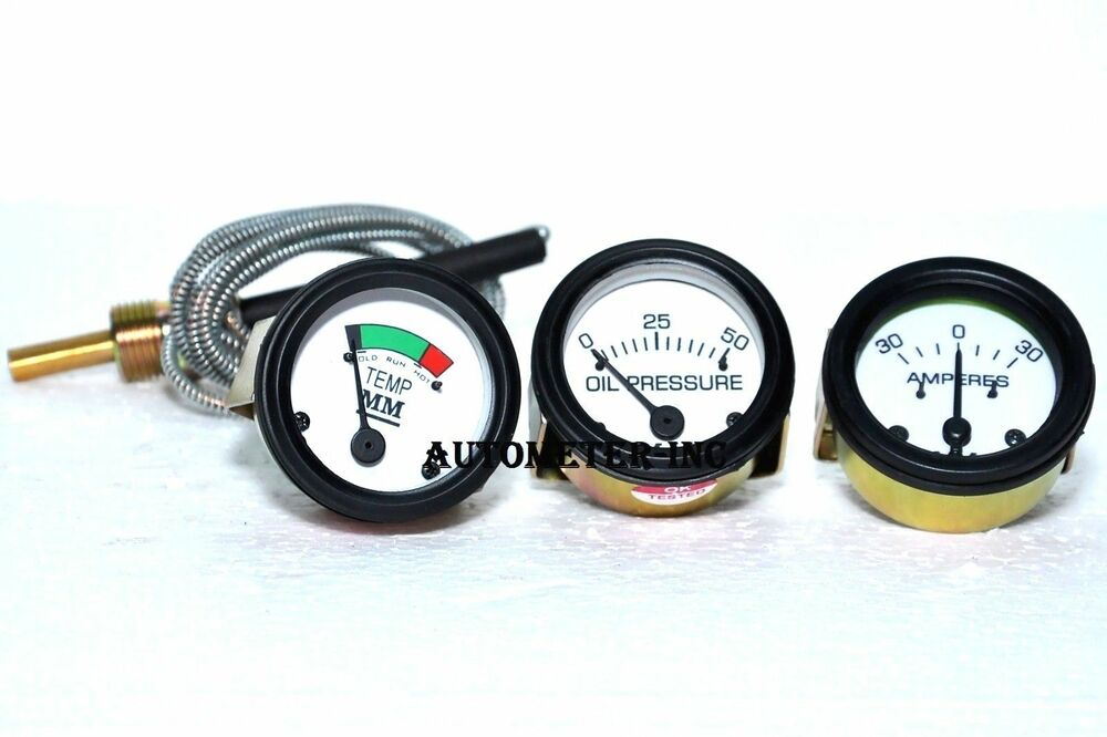 Heavy Equipment Gauges : Amp temp oil pressure gauge set for minneapolis moline g r