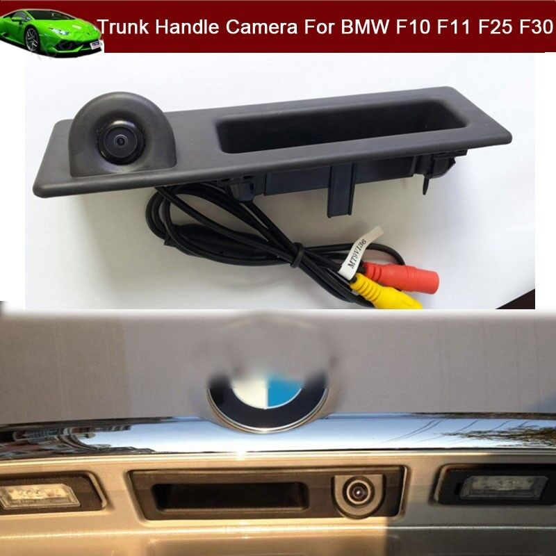 Car Trunk Handle CCD Rear View Camera For BMW F10 F11 F25