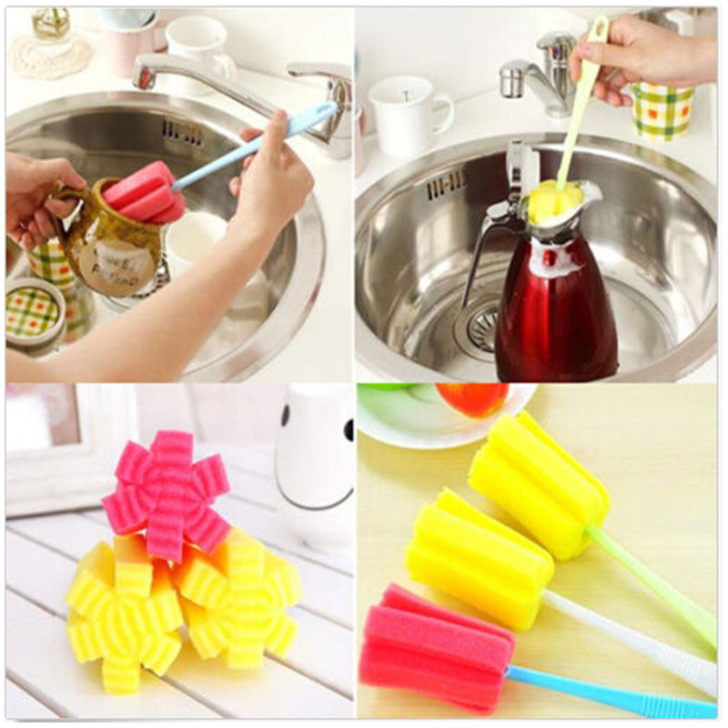 Kitchen Cleaner: New Sponge Brush Bottle Cup Glass Washing Cleaning Kitchen